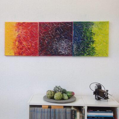 acryl auf leinwand - 3x40x40 - verkauft