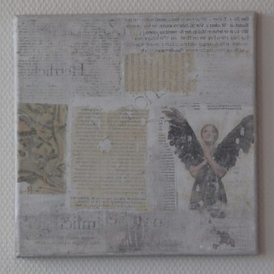 collage auf leinwand - 30x30 - 420chf