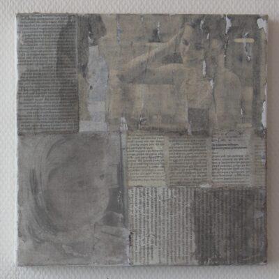 collage auf leinwand - 30x30 - verkauft