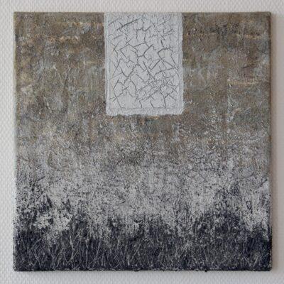 kohle-sand-acryl auf leinwand - 40x40 - 560chf